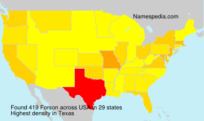 Surname Forson in USA