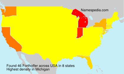Surname Forthoffer in USA