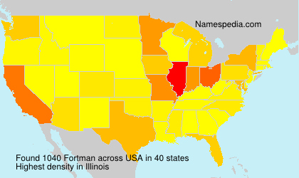 Surname Fortman in USA