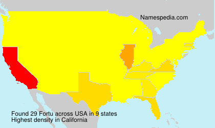 Surname Fortu in USA