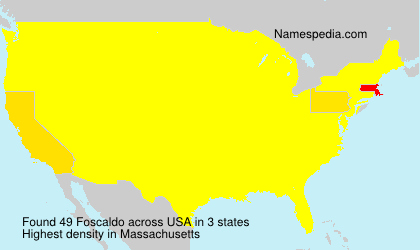 Surname Foscaldo in USA