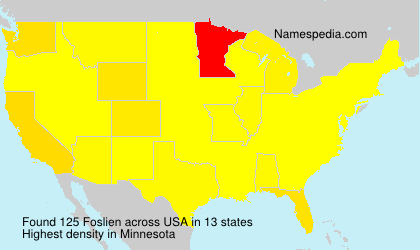 Surname Foslien in USA