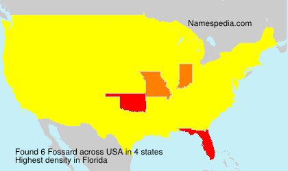 Surname Fossard in USA