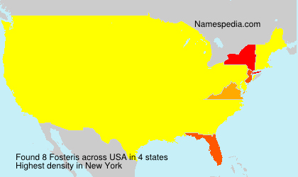 Surname Fosteris in USA
