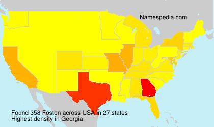 Surname Foston in USA