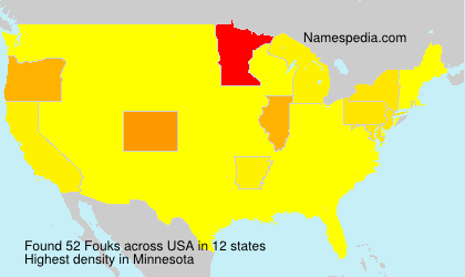 Surname Fouks in USA