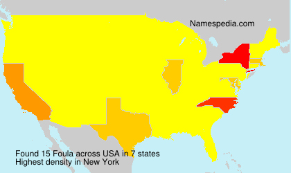 Surname Foula in USA