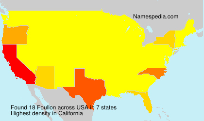Surname Foullon in USA