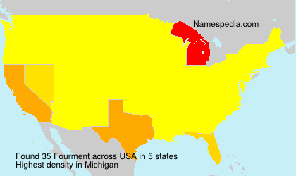 Surname Fourment in USA