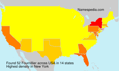 Surname Fournillier in USA