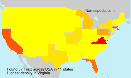 Surname Fouz in USA