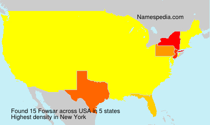 Surname Fowsar in USA
