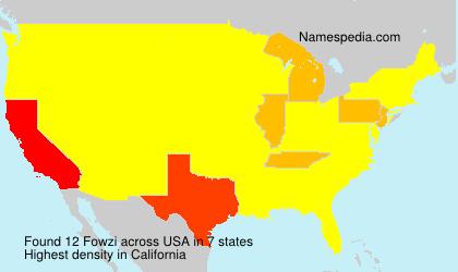 Surname Fowzi in USA