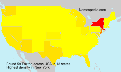 Surname Foxton in USA