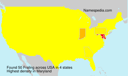 Surname Fraling in USA