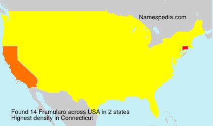 Familiennamen Framularo - USA