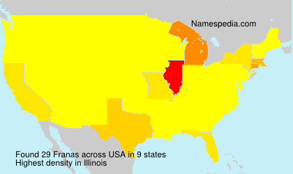 Familiennamen Franas - USA