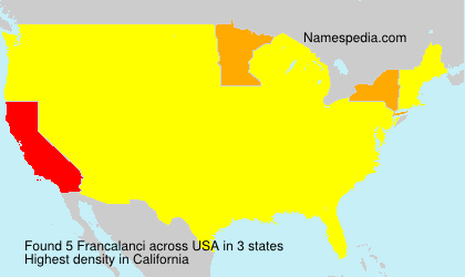 Surname Francalanci in USA