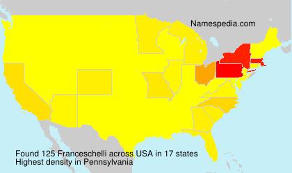 Familiennamen Franceschelli - USA