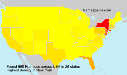 Surname Francese in USA