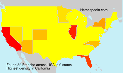 Surname Franche in USA