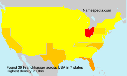 Surname Franckhauser in USA