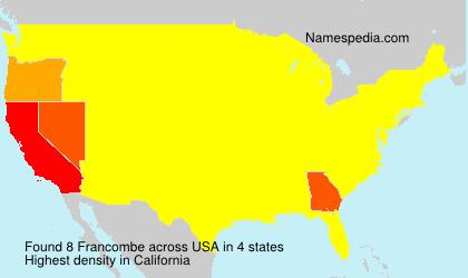 Familiennamen Francombe - USA