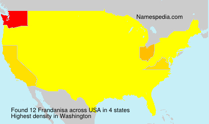 Surname Frandanisa in USA