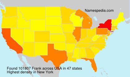 Familiennamen Frank - USA