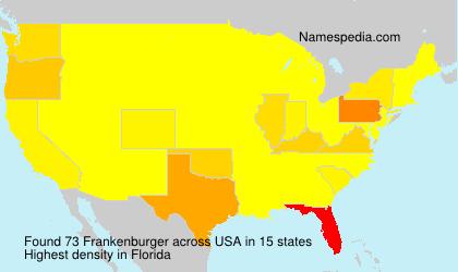 Surname Frankenburger in USA