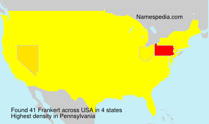 Surname Frankert in USA