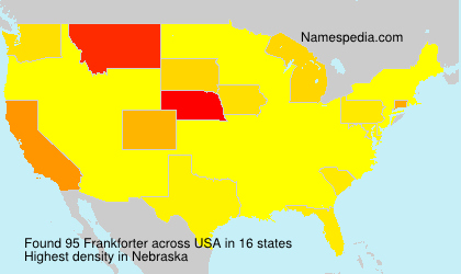 Surname Frankforter in USA