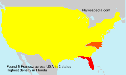 Surname Franosz in USA