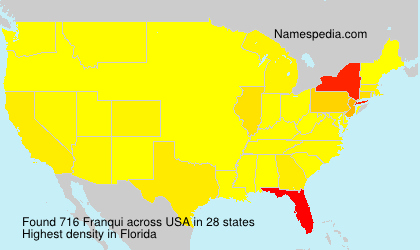 Surname Franqui in USA