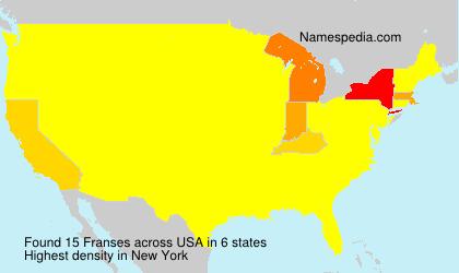Familiennamen Franses - USA