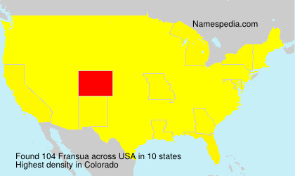 Surname Fransua in USA