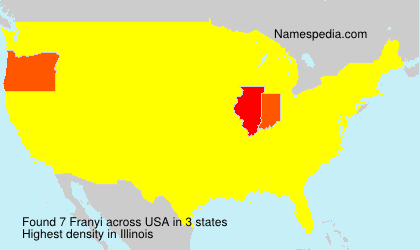 Surname Franyi in USA