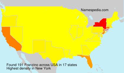 Surname Franzino in USA