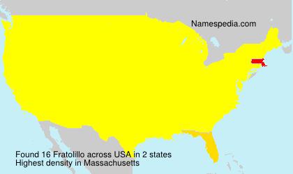 Surname Fratolillo in USA
