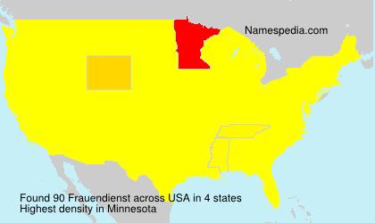 Surname Frauendienst in USA