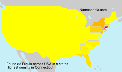 Surname Fraulo in USA