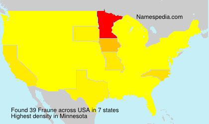 Surname Fraune in USA