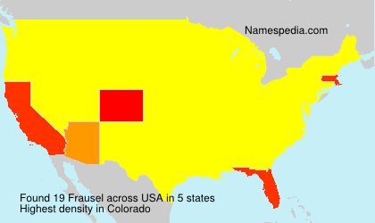 Surname Frausel in USA