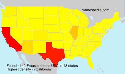 Surname Frausto in USA
