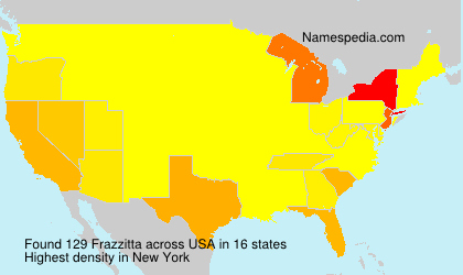 Surname Frazzitta in USA