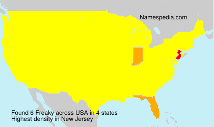 Surname Freaky in USA