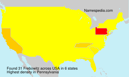 Surname Frebowitz in USA