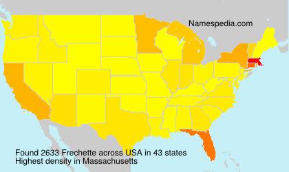 Surname Frechette in USA
