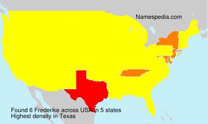 Familiennamen Frederike - USA