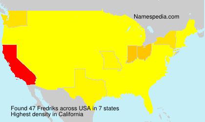 Familiennamen Fredriks - USA